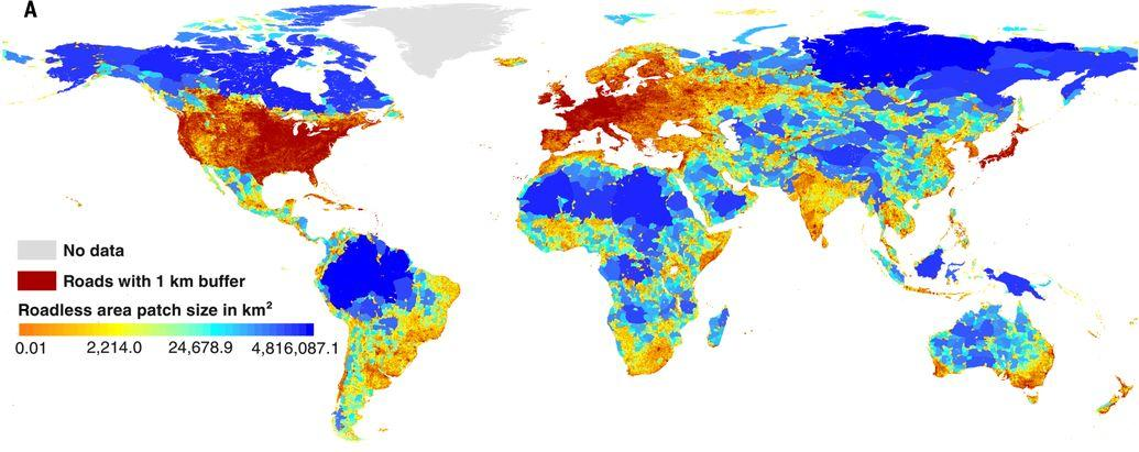 publication on roadless areas and their conservation status